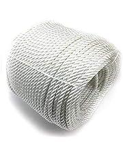 50 meter 6 mm touw voor zonnezeil vlaggenmast touw polyestertouw katoenen touw koord met holle gebreide afsluitkabel hydrofoob wit