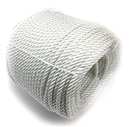 50 Meter 6 mm Seil Für Sonnensegel Fahnenmast Seil Polyesterseil Baumwollseil Baumwollseil Kordel Mit Hohlstrick Absperrseil Hydrophob Weiß