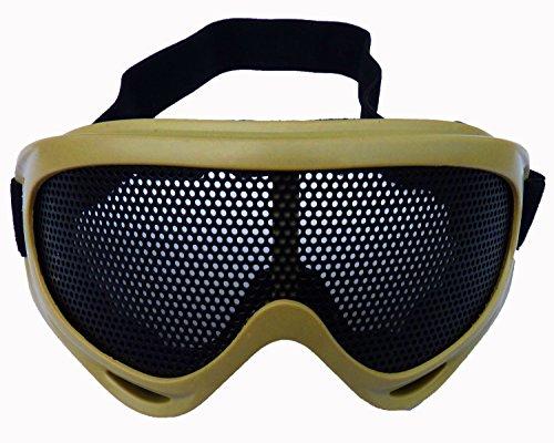 N&B Desert Shield Hochwertige Softair Schutzbrille für Profis Softair Schutz-Brille Protection Air-Soft Zubehör Sport-Brille Gesichtsschutz