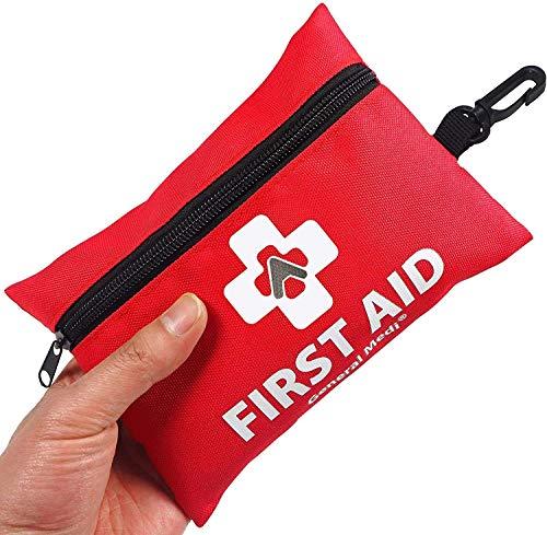 Erste Hilfe Set - 92-teiliges Premium Erste-Hilfe-Set für Haus, Auto, Reise, Büro, Sport, Wandern, Camping, Rettung (Rot)