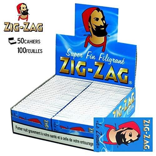 ZIG ZAG cartine Blu x50