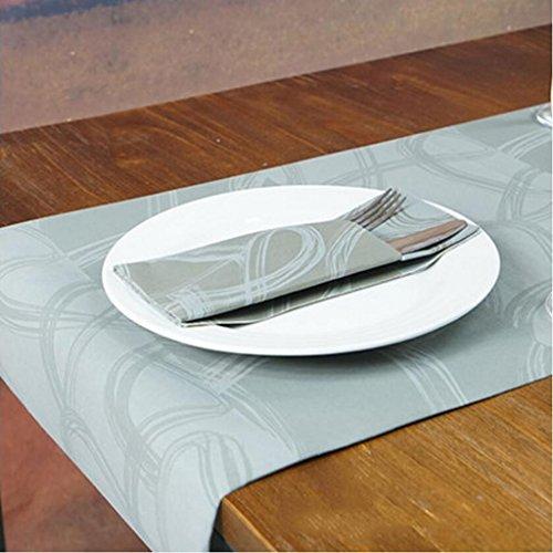 Servilletas Liuyu Cocina Inicio Mesa de Comedor Disponible Bandera del Vector del Hotel Bandera de la Tabla (Tamano : Table mats 50 Pcs)