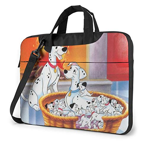 Laptop Sleeve Bag 101 Dalmatians Tablet Briefcase Ultraportable Protective Canvas for 13 Inch MacBook Pro/MacBook Air/Notebook Computer