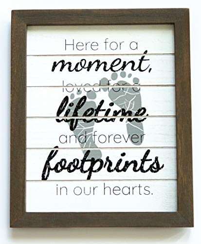 "Gie Blessings Miscarriage Gifts for Mothers I Sympathy Memorial Loss of a Baby Bereavement Sign Gift - 7.5"" x 9"" Comes in a Gift Box I Grieving Remembrance"