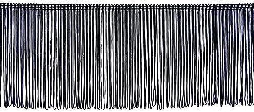 per metre Chainette Furnishing Fringe 12.5cm wide Navy Blue