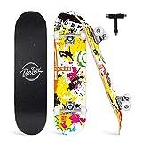 Beleev Skateboard Erwachsene 31x8 Zoll Komplette Cruiser...