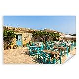 Postereck - 0414 - Mediterranes Dorf, Sizilien Italien