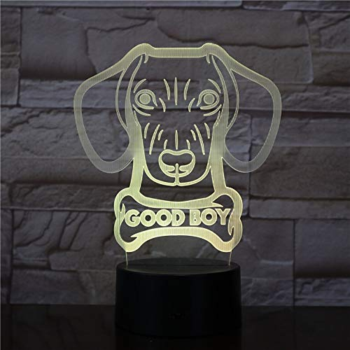 Nombre del Perro Personalizado lámpara Brillante Salchicha Salchicha