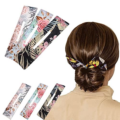 XINRUI 3 Stück Deft Bun, French Hair Buns Hair Donut Bun Maker Magic Hair Bun Maker Twister Haarband Frisierhilfe Haarschmuck für Mädchen Frauen
