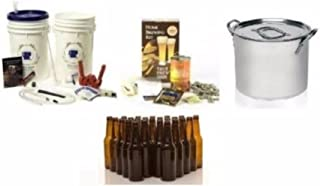 コンプリート 自家製ビール スターター キット 材料 ステンレスストック用鍋 ボトル付き