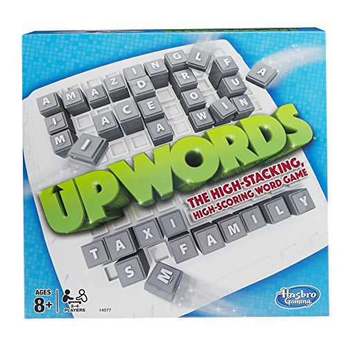 Upwords Board Game - The Exciting High Stacking, High Scoring Word Game - Ideal Games for Family Fun - For 2-4 Players, for Ages 8 Plus - Simple Rules: Score the Most and Win - Great Party Game too