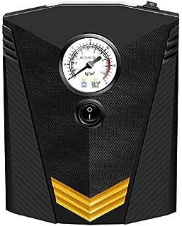 iWork - L-82-362 - Compresor de Aire Portátil 12v,inflador de neumáticos analógico, bomba de neumático color negro