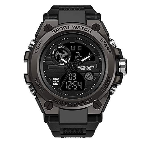 RORIOS Digitale Orologio per Uomo Orologi da uomo sportivo impermeabile militare orologio con sveglia cronometro all' aria aperta orologio analogico