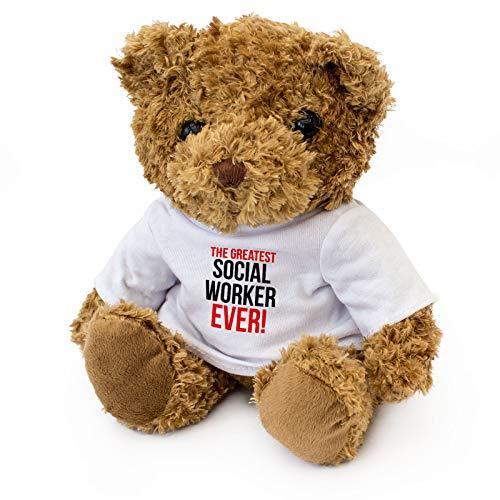 GREATEST SOCIAL WORKER EVER - Teddy Bear - Cute Soft Cuddly - Award Gift Present Birthday Xmas