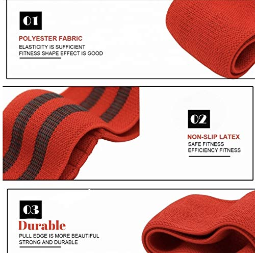 FITTABLE FIT Resistance Bands 3 Sets, Fabric Resistance Bands For Glutes, Hips & Legs. Workout Bands For Women & Men. Great For Home Workout, Yoga, Physio & The Gym For That Extra Resistance