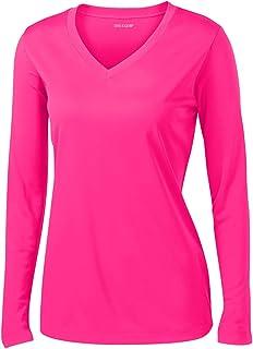 Joe`s USA Ladies Long Sleeve Moisture Wicking Athletic Shirts Sizes XS-4XL