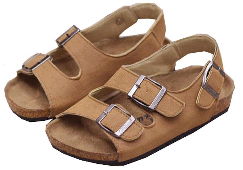 Hevego Kids Toddler Zandalias Soft Wood Cork Sandals for Boys Girls