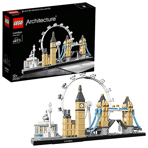 LEGO 21034 Architecture Skyline Model Building Set, London Eye, Big Ben, Tower Bridge Collection, Construction Collectible Gift Idea