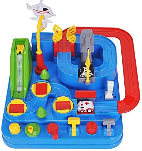Dfghbn Track Spielzeugauto, Race Adventure Puzzle pädagogisches Spiel, Keine Batterie Interaktionserkennung Kinder Geschenk, mit Rampe