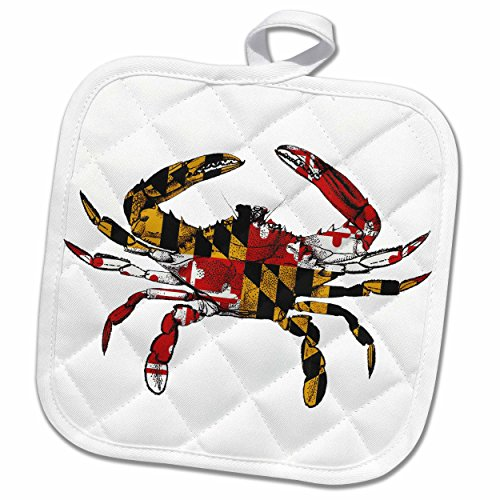3d Rose Maryland Crab Flag Pot Holder 8 X 8 From Amazon Ibt Shop