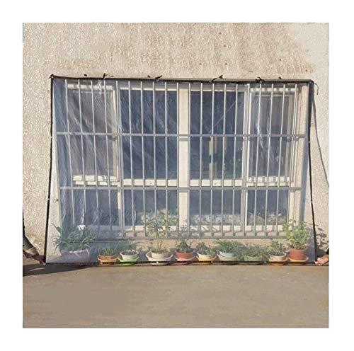 Hoja de avión Patio de plástico Transparentes de Aislamiento Ojales, Ventana/Kinder/Invernadero/Jardín Cine, 300 g/m² Toldo Clear Tarpaulin (Color : Clear, Size : 3x6m)