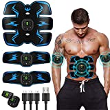 Abs Stimulator Abdominal Muscle,EMS ABS Trainer Body Toning Fitness, USB Rechargeable Toning Belt...
