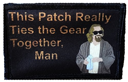 Big Lebowski Pee Rug Morale Patch. Perfect for Your Tactical Military Army Gear, Backpack, Operator Baseball Cap, Plate Carrier or Vest. 2x3 Hook Patch. Made in The USA