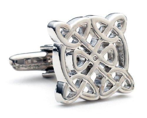 Men's Executive Silver Tone Celtic Love Knot Cufflinks Cuff Links