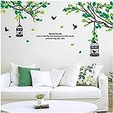 Árbol Rama Pájaro Jaula Pájaro Pájaro Vinilo Sala de estar Dormitorio Detalle Calcomanía Pegatina Mural Decoración de la boda Hermoso arte