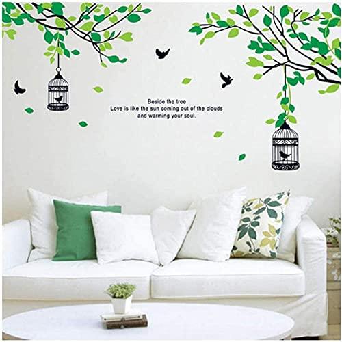 Árbol Rama Pájaro Jaula Pájaro Pájaro Vinilo Sala de estar Dormitorio Detalle...