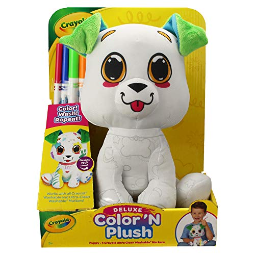"Crayola 12"" Deluxe Color 'N Plush Puppy - Draw, Wash Reuse"