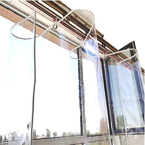 XXIOJUN Lona Transparente Impermeable de Alta Resistencia Que se Puede Colgar, con Ojales Reforzados Resistente al Clima Lámina de Vinilo de PVC para Acampar, Pescar y Hacer jardinería
