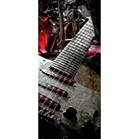 3Dドアステッカーピールアンドスティックビニール壁画デカールレトロギター家の装飾用粘着性PVCウォールステッカー30.3x78.7(77x200cm)