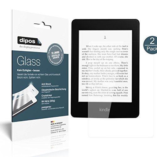 dipos I 2X Panzerfolie klar kompatibel mit Amazon Kindle Paperwhite Schutzfolie 9H Displayschutz-Folie
