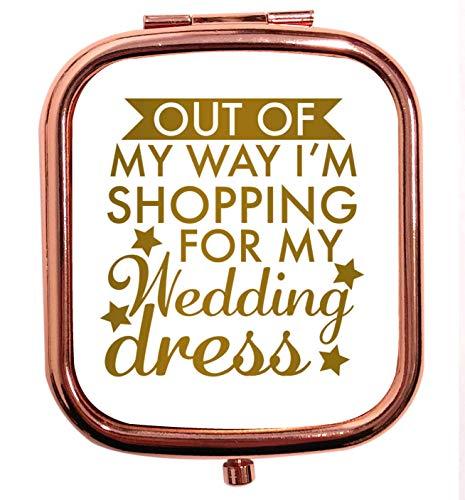 Flox Creative T-shirt carré carré avec miroir pour ma robe de mariée Doré rose