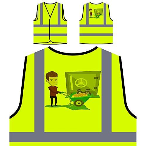 Pilas De Hombre De Caja Fuerte Chaqueta de seguridad amarillo personalizado de...