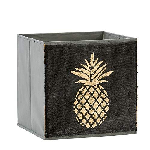 Zauberkiste mit Wendepailetten | Ananas | 32x32x32cm |Spielzeugkiste | Aufbewahrungsbox | Kiste | Store It