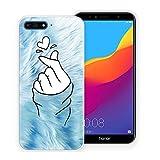 Pnakqil Coque Huawei Honor7A / Y62018, Transparente avec Motif Souple Antichoc en Silicone Gel...