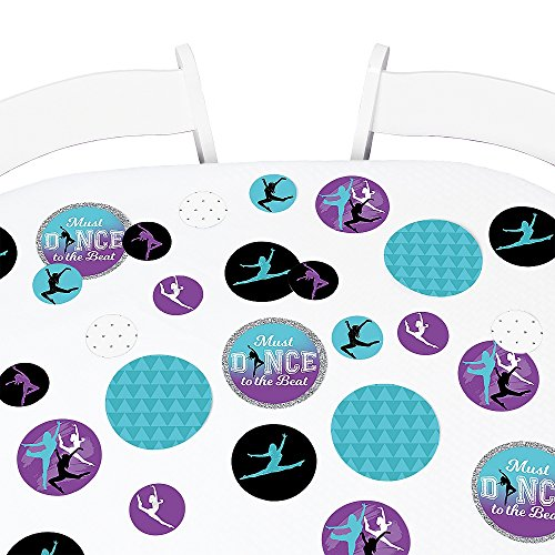 Big Dot of Happiness Must Dance to the Beat - Dance - Birthday Party Giant Circle Confetti - Dance Party Decorations - Large Confetti 27 Count