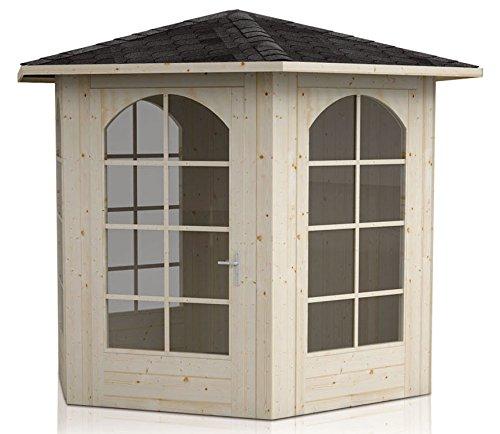 Kleines Gartenhaus-Pavillon mit Fußboden - Innenmaß 278 x 292cm - Außenmaß 348 x 368cm