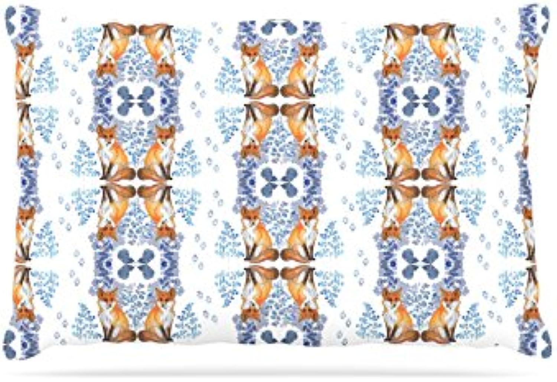 Kess InHouse DLKG Design Marine Life  Fleece Dog Bed, 50 by 60 , bluee