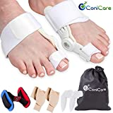 Orthopedic Bunion Corrector Splint and Protector Sleeves Kit - Hallux Valgus Pain Relief, Big Toe Joint, Hammer Toe, Gel Toe Separator Spacer and Straightener Splint Correction Aid, for Women and Men