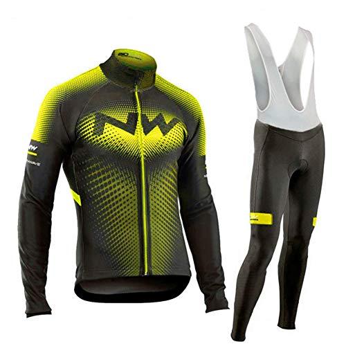 Hplights - Camiseta de ciclismo de manga larga para hombre, secado rápido, transpirable, para bicicleta de montaña, MTB