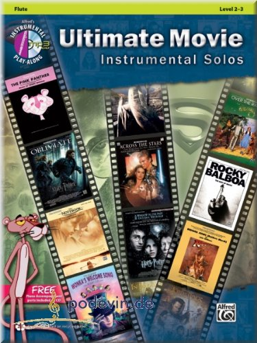 Ultimate Movie Instrumental Solos Flute - Flöte Noten [Musiknoten]