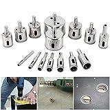 KANJJ-YU Lot de 15 scies cloches diamantées de 3 à 42 mm pour carrelage, céramique, verre, porcelaine, marbre