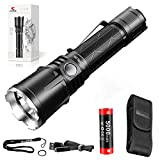klarus XT21X 4000 Lumens Rechargeable Advanced Tactical Flashlight, Beam Reach 316m, CREE XHP70.2 P2 LED, 5000mAh IMR 21700 Battery, Super Bundle
