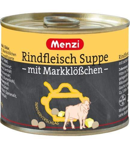 Rindfleischsuppe mit Markklößchen von MENZI, Sparpack mit 5 x 200g
