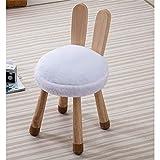 WYJW Massivholz Kreativ Hocker Kinderhocker Designermöbel Kinderstuhl Abnehmbar Und Waschbar Spaß Hocker Tierhocker, 30x51x36cm (Farbe: C)