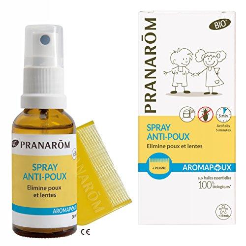 Pranarôm - Aromapoux - Spray Anti-Poux Bio Eco - Elimine Poux Et Lentes - 30 ml