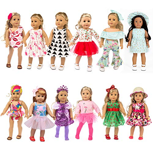 Fairy Wings 27-Piece Clothing Set for American 18-Inch Dolls